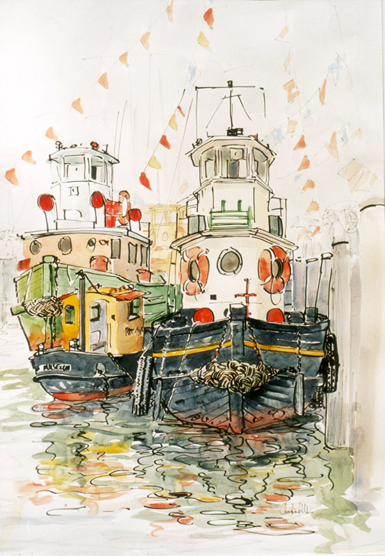 Jolly tug boats | Christine Hill