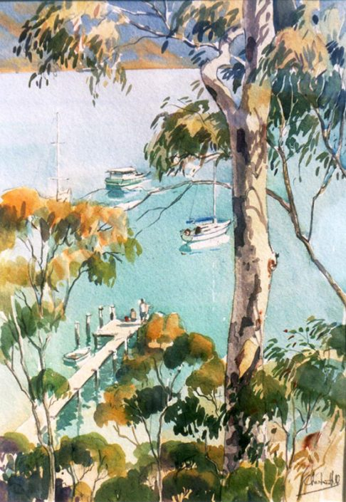 Fishing from the jetty (Pittwater)