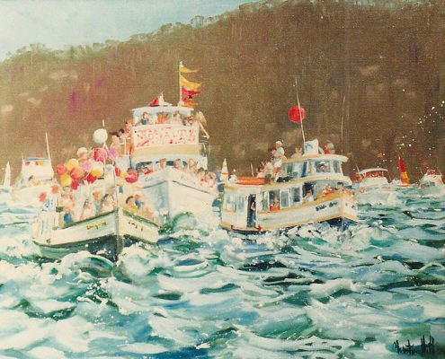 Pittwater Ferry Boat Race - 1981