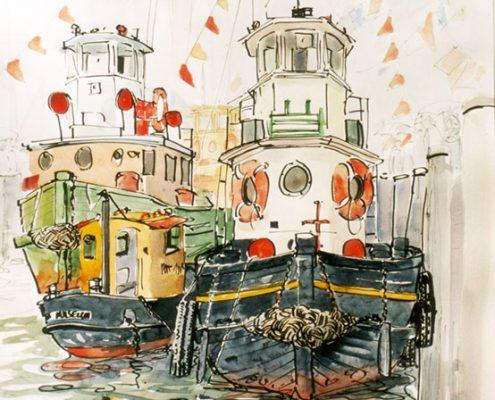 Jolly tug boats