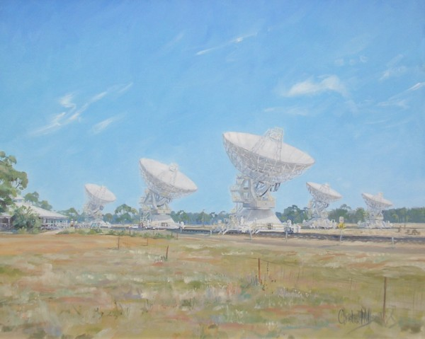 The radio telescope array, Australia Telescope National Facility, 2008.
