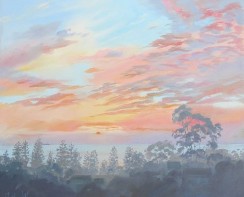 Thirroul dawn with midsummer mist | $400