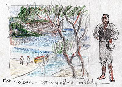 Wattamolla preliminary sketch